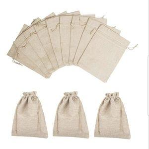 Handbags - 10pc.Burlap Bag with Drawstring